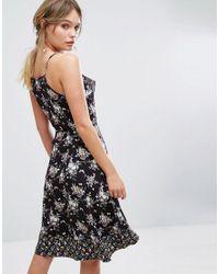 Oasis Black Longer Length Ditsy Floral Cami Dress