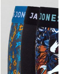 Jack & Jones - Blue 3 Pack Trunks With All Over Prints for Men - Lyst