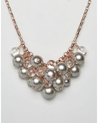 Ted Baker - Pink Galini Pearl Cluster Necklace - Lyst