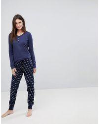 Esprit - Blue Stars Pyjama Set - Lyst