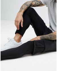 Only & Sons - Black Cropped Cargo Joggers for Men - Lyst