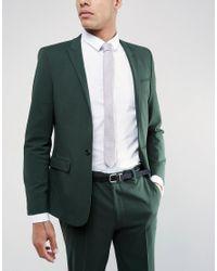 ASOS | Purple Slim Textured Tie In Lilac for Men | Lyst