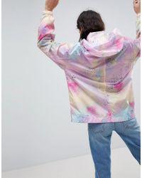 ASOS - Multicolor Rainwear Jacket With Bumbag In Pastel Spray Paint - Lyst