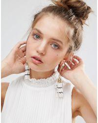 ASOS - Metallic Resin Tassel Jewel Earrings - Lyst