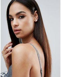 Krystal London - Metallic London Swarovski Crystal Pear Drop Surround Earrings - Lyst