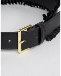 Glamorous - Black Waist Belt With Frill Detail - Lyst
