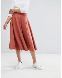 ADPT - Brown Tall Away A Line Skirt - Lyst