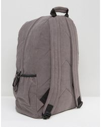SYSTVM - Gray Backpack In Grey Faux Suede for Men - Lyst