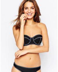 South Beach - Black Mix And Match Boost Bustier Bikini Top - Lyst
