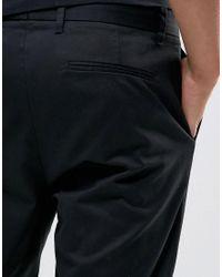 AllSaints - Black Slim Fit Cropped Pant for Men - Lyst