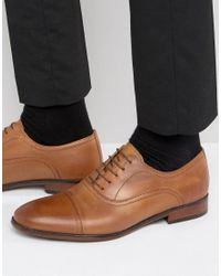 Red Tape - Brown Toe Cap Oxford Shoes In Tan Leather for Men - Lyst