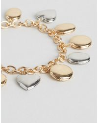 ASOS - Metallic Locket Charm Toggle Bracelet - Lyst