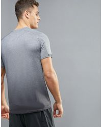 New Look | Sport T-shirt With Ombre Space Print In Gray for Men | Lyst