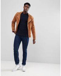 SELECTED - Blue Crew Neck Knit for Men - Lyst