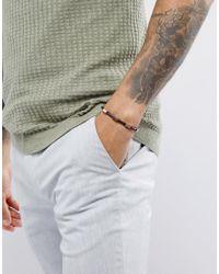 ASOS - Black Bracelet With Contrast Copper Finish for Men - Lyst