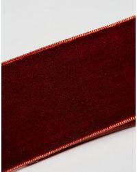ASOS - Red Wide Velvet Choker Necklace - Lyst
