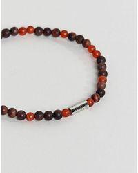 Ted Baker - Wayves Semi Previous Beaded Bracelet In Red for Men - Lyst