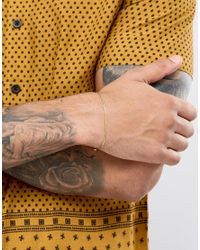 ASOS - Metallic Sterling Silver Bracelet With Gold Plating for Men - Lyst