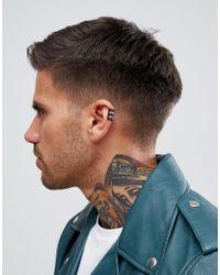 Icon Brand - Ear Cuff Earring In Black for Men - Lyst
