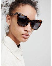 ASOS DESIGN - Brown Asos Cat Eye Sunglasses - Lyst