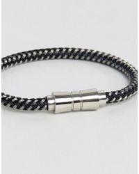 Seven London - Woven Black & White Bracelet for Men - Lyst
