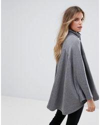 Ugg - Gray Pichot Double Knit Fleece Poncho - Lyst
