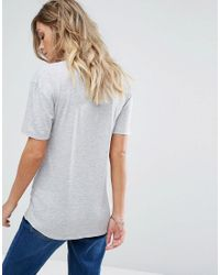Miss Selfridge - White Miss Selfirdge Basic T-shirt - Lyst