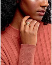 ASOS - Metallic Pack Of 3 Textured And Smooth Rings - Lyst