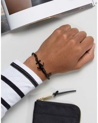 Icon Brand - Chain Anchor Bracelet In Black for Men - Lyst