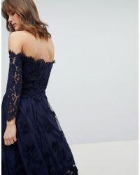 Coast - Blue Marr Lace Bardot Top - Lyst