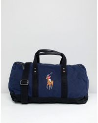 Polo Ralph Lauren Large Multi Player Logo Embroidery Canvas Duffle ... cdc98d18b93b7