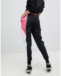 ASOS - Black Asos Track Pant With Colour Block Side Panels - Lyst