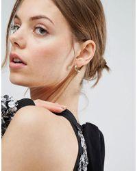 ASOS - Metallic Thick Half Hoop Earrings - Lyst