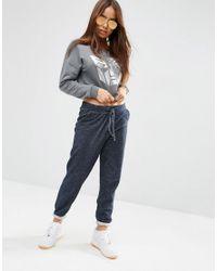 ASOS - Gray Cropped Sweatshirt With Transformer Print - Lyst