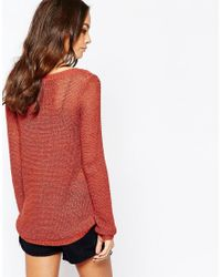 ONLY - Geena Women's Sweater In Red - Lyst