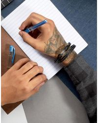 Paul Smith - Leather Wrap Bracelet In Black for Men - Lyst
