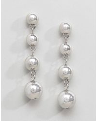ASOS - Metallic Metal Ball Drop Earrings - Lyst