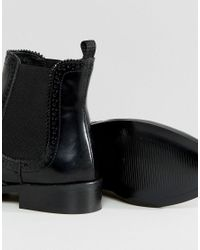 Dune - Black Quentin Brogue Chelsea Boot - Lyst
