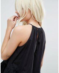 ASOS - Black Trapeze Sun Top In Cotton - Lyst