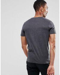 SELECTED - Gray Colour Block T-shirt for Men - Lyst