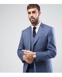 Reiss - Slim Suit Jacket In Blue for Men - Lyst