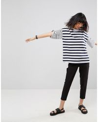 ASOS - Multicolor T-shirt In Boxy Fit And Cut About Stripe - Lyst