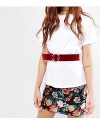 Glamorous - Red Pierce Buckle Waist Belt - Lyst