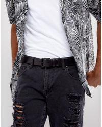 AllSaints - Black Leather Slim Belt for Men - Lyst