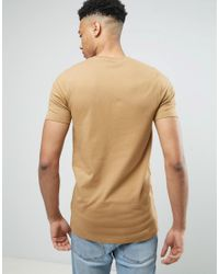 ASOS - Tall Longline Muscle T-shirt In Brown for Men - Lyst