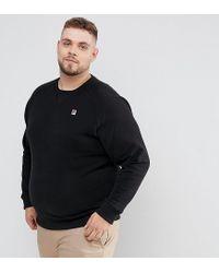 bf55990dc664 Lyst - Fila Plus Sweatshirt With Small Logo In Black in Black for Men