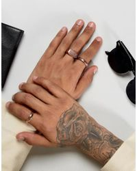 Icon Brand - Multicolor Copper Band & Signet Rings In 3 Pack for Men - Lyst