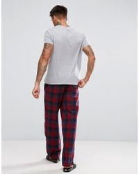 Tokyo Laundry Red Pajama Check Pants for men
