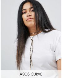 ASOS - Multicolor Animal Print Bolo Choker Necklace - Lyst