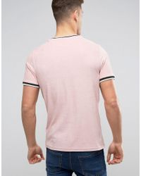 River Island - Towelling T-shirt In Pink for Men - Lyst